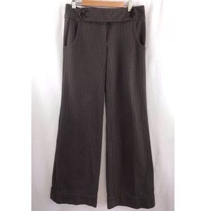 Anthropologie Cartonnier Pinstriped Brown Pants